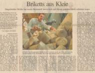 """Zeitungsartikel in der """"Eichsfelder Allgemeine"""" vom 11.05.2007"""